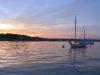 Sunset at Clark Boat Yard.