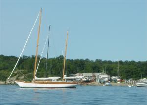 """Viva"" 52' Herreshoff Ketch at Clark Boat Yard"